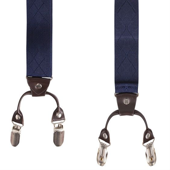 English Fashion Suspenders Blue with clips