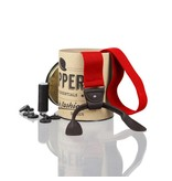 English Fashion Suspenders Red with Leather