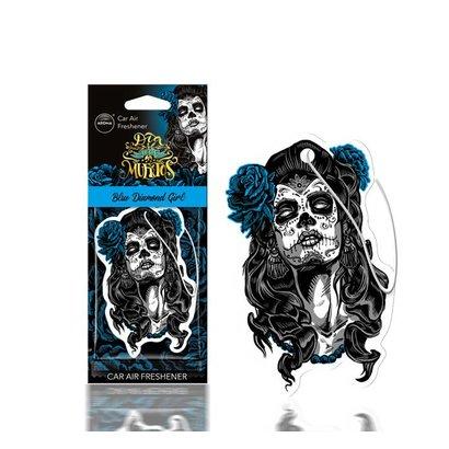 Aroma Geurhangers Aroma - Dia De Los Muertos Diamond Girl Blue