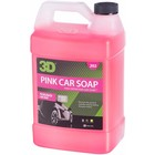 3D Car Care Pink Car Soap 1 Gallon