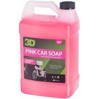 3D Car Care Pink Car Soap 1 Gallon