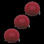 3D Car Care 3 Pack Medium Red Applicators