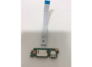 Dell Dell Inspiron 15 3000 kaartlezer en USB bord type: P40F 0XP600 Ribbon F2-Y3-n23