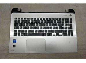 Toshiba Toshiba zilveren toetsenbord en palmrest voor C55DT-C C55DT-C5245 laptops