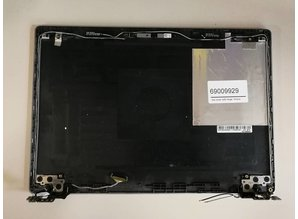 Lenovo  Details about  Lenovo Ideapad 100S-14IBR black Plastic LCD BackCover W/ webcam & Hinges