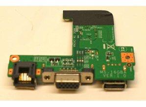 MSI MSI laptop 16GBA I/O Board met LAN VGA & USB
