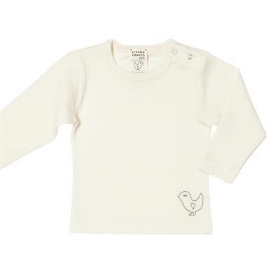 Living Crafts Babyhemd ronde hals wol/zijde
