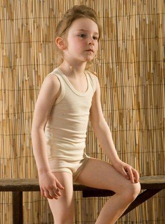 Hocosa Tussahzijden kinderhemd mouwloos