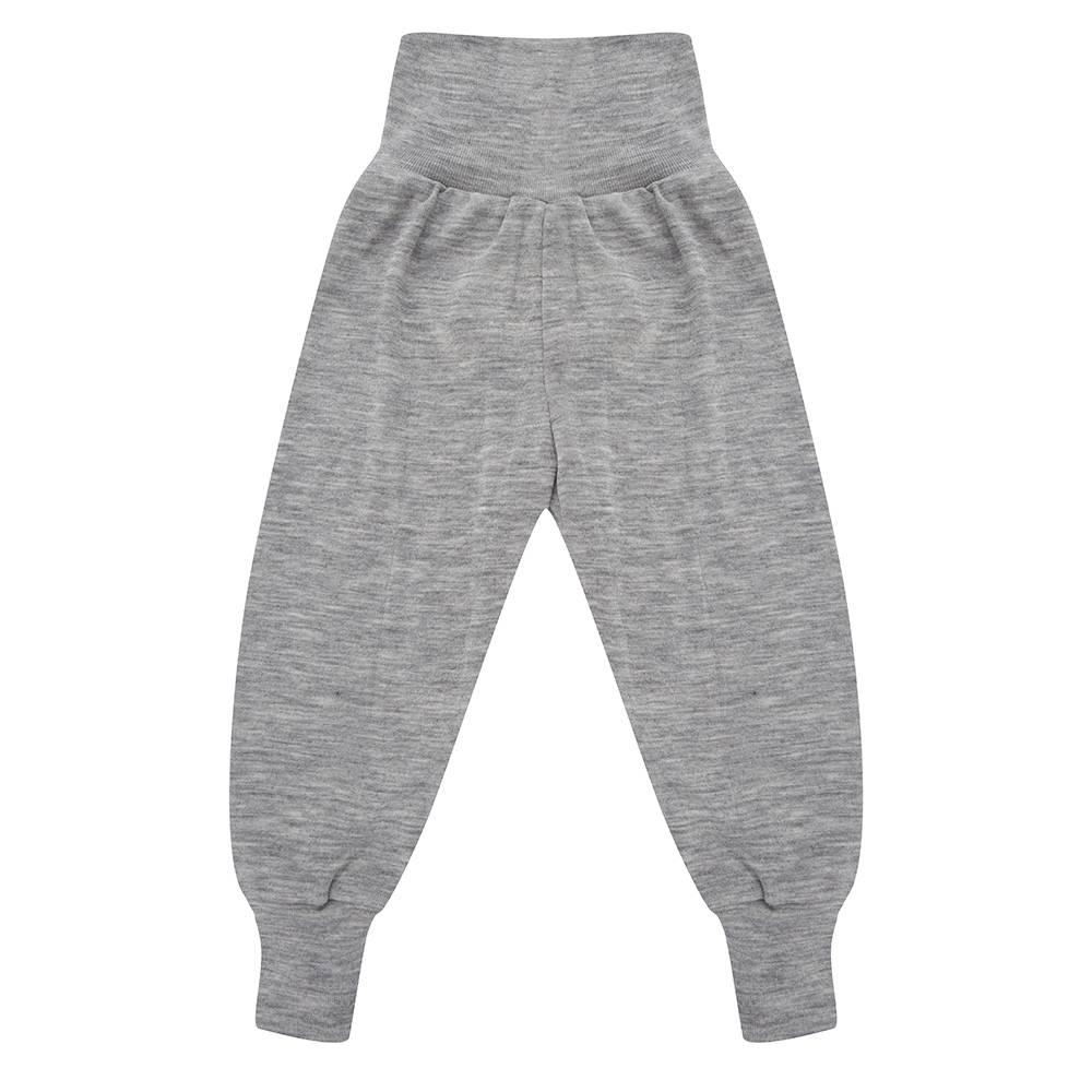 Babybroekje wol/zijde met brede tailleband