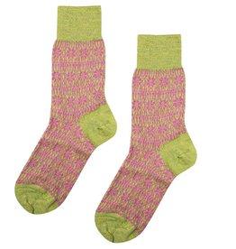 Hirsch Natur Wollen sokken met sterren dunner 36/37