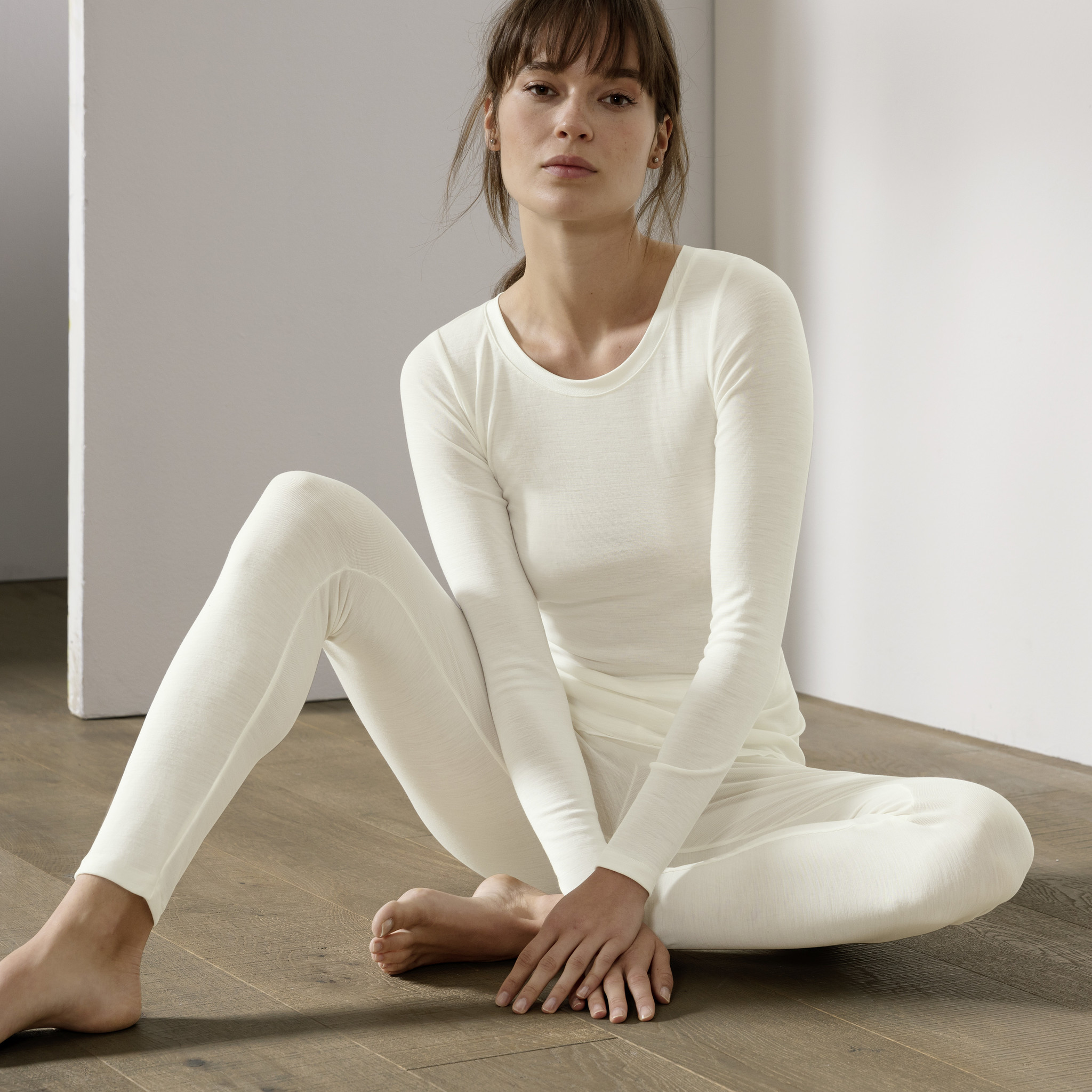 Calida Ecru legging wol/zijde