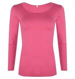 Kokon zwo Shirt met lange mouw van zijde/ bio katoen