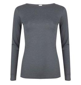 Hocosa Wol/zijden hemd met lange mouw boothals