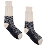 Hirsch Natur Sokken met Scandinavisch patroon wol
