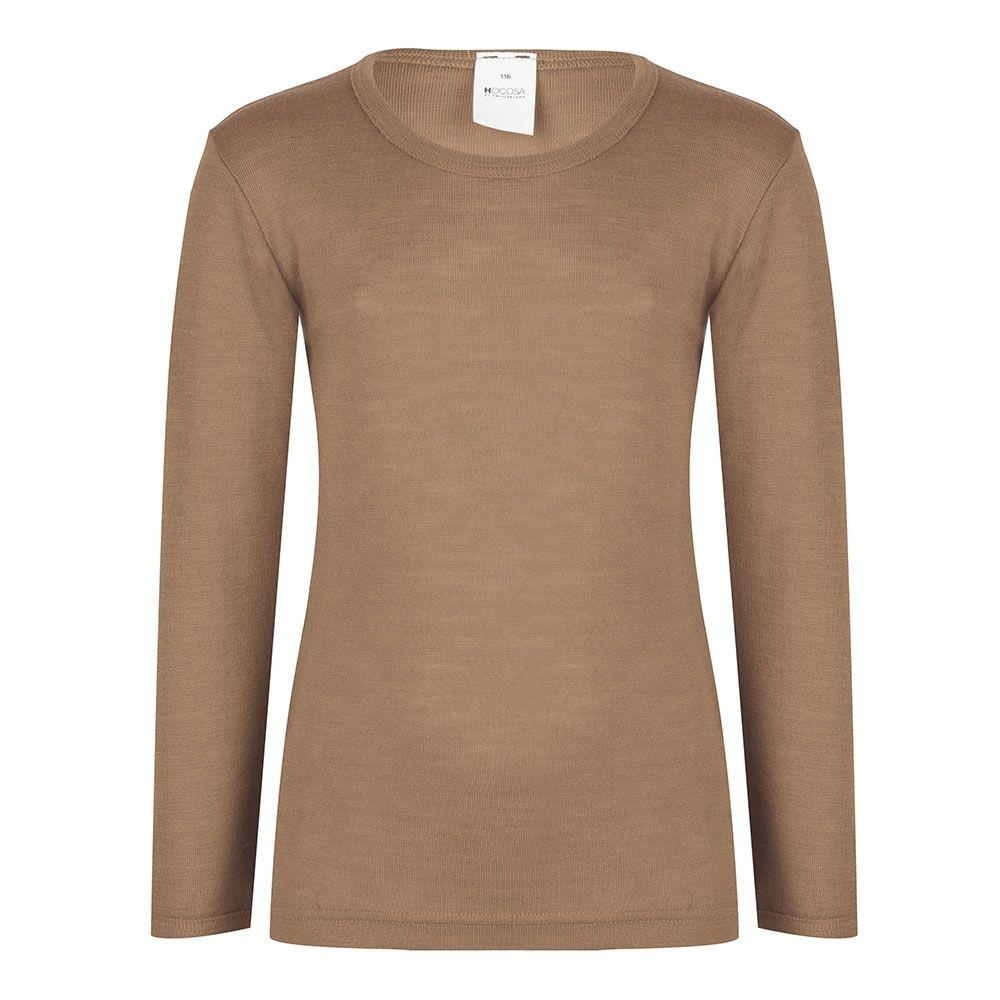 Hocosa Kind- Hemd met lange mouw wol/zijde