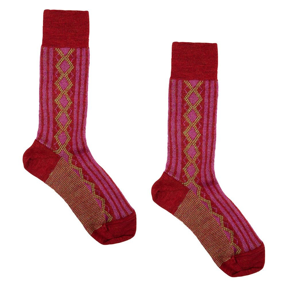 Hirsch Natur Folklore sokken wol roze