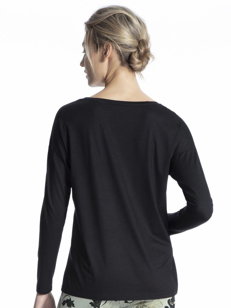 Calida Zwart oversized shirt tencel