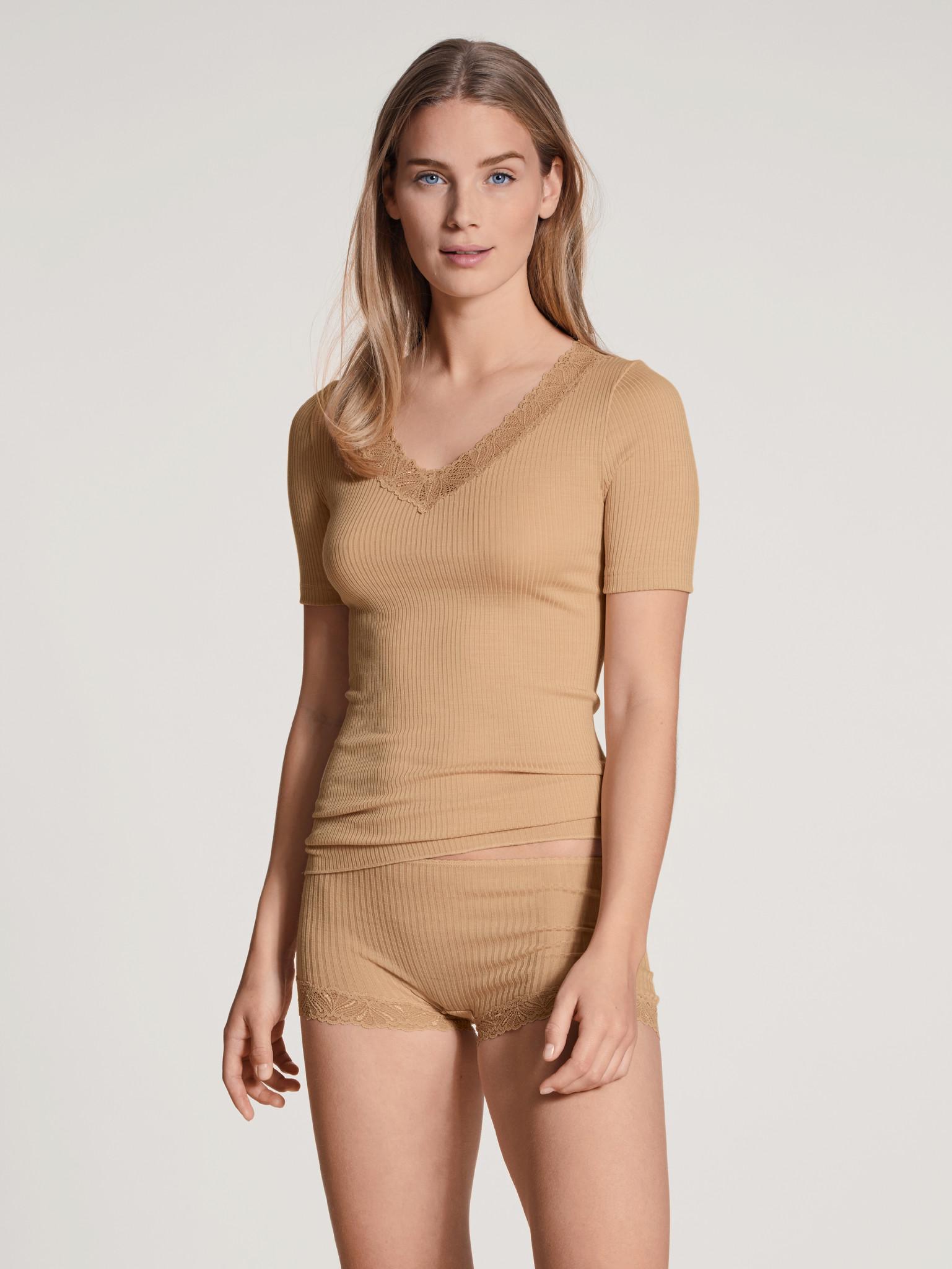 Calida Hemd wol/zijde korte mouw