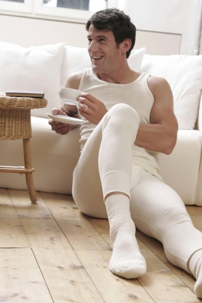 Living Crafts Wol/zijden lange onderbroek met gulp