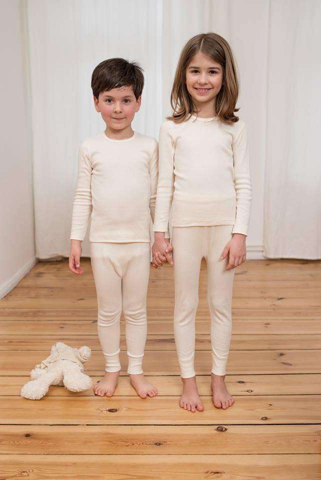 Kind- Wol/zijden hemd lange mouw