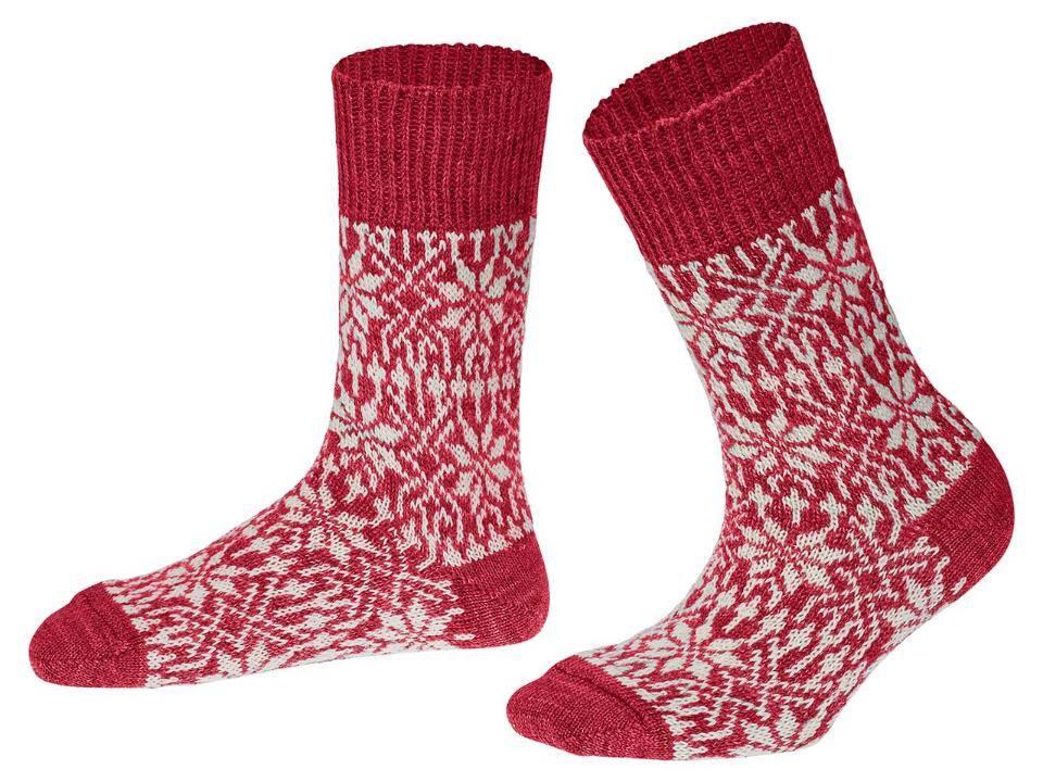Hirsch Natur Wollen sokken met sterren