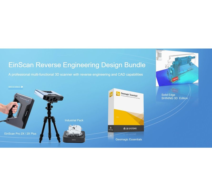 Einscan Pro 2X Plus Reverse Engineering Design bundel