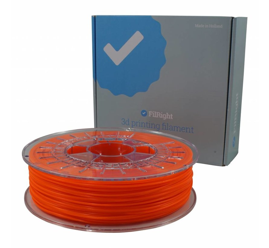FilRight Pro PLA+ - 750 g - Orange Fluor