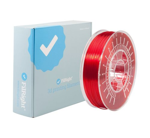 FilRight FilRight Pro PETG - 750 g - Red transparant