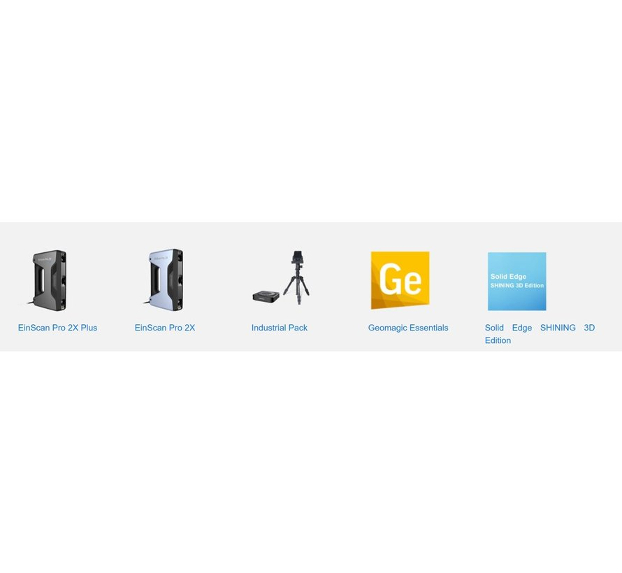 Einscan Pro HD Reverse Engineering Design bundel