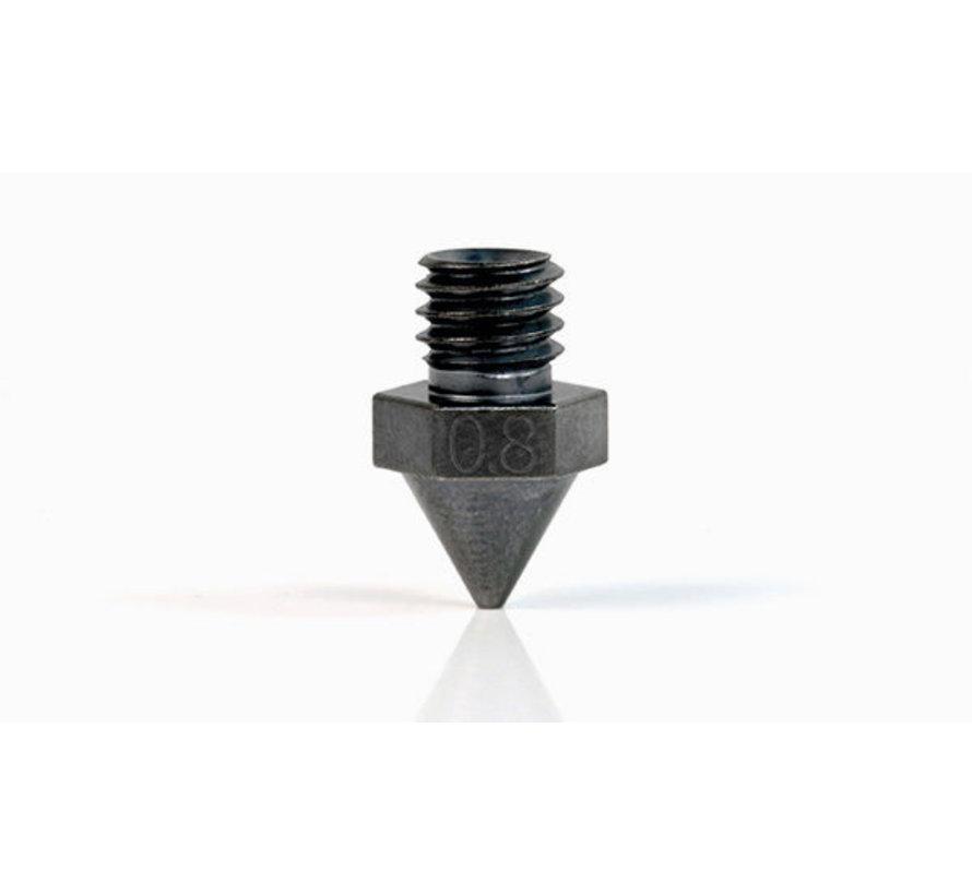 Raise3D Stalen nozzle met WS2/Tungsten coating (alleen Pro2/E2) 0.8mm