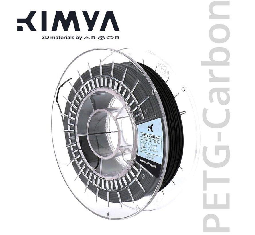 Kimya PETG Carbon Filament - 500 g - Zwart