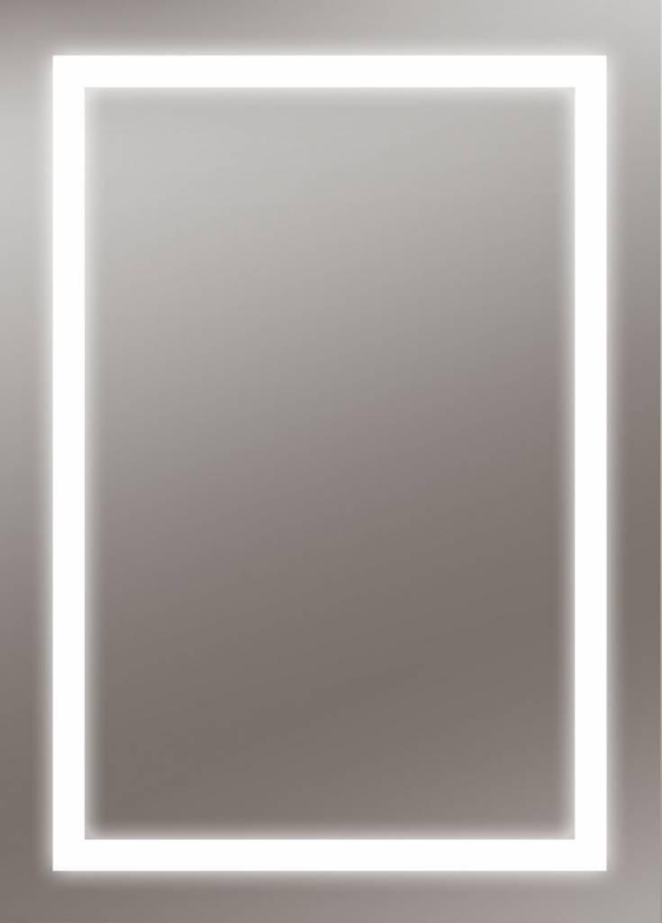 Zalena LED-Lichtspiegel Aurelia mit sandgestrahlten Lichtausschnitten [A+]