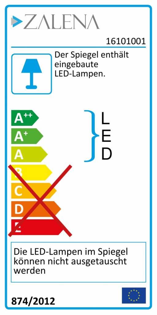 LED-Lichtspiegel Alastair mit sandgestrahlten Lichtausschnitten [A+]