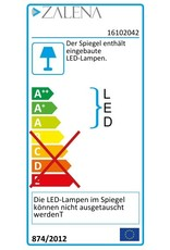 Zalena LED-Lichtspiegel WEGA mit sandgestrahlten Lichtausschnitten [A+]