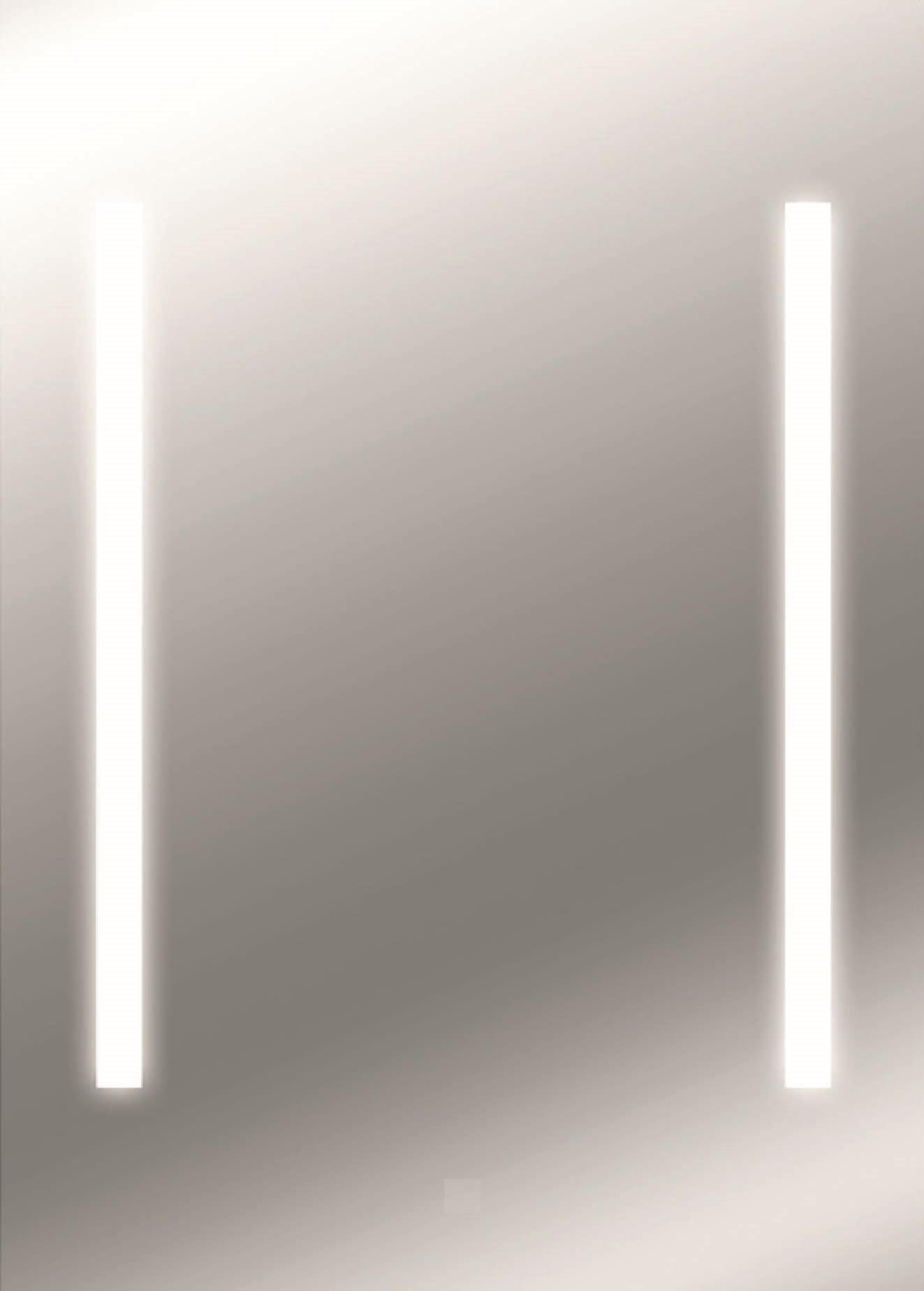 Zalena LED Lichtspiegel Thuban mit sandgestahlten Lichtausschnitten