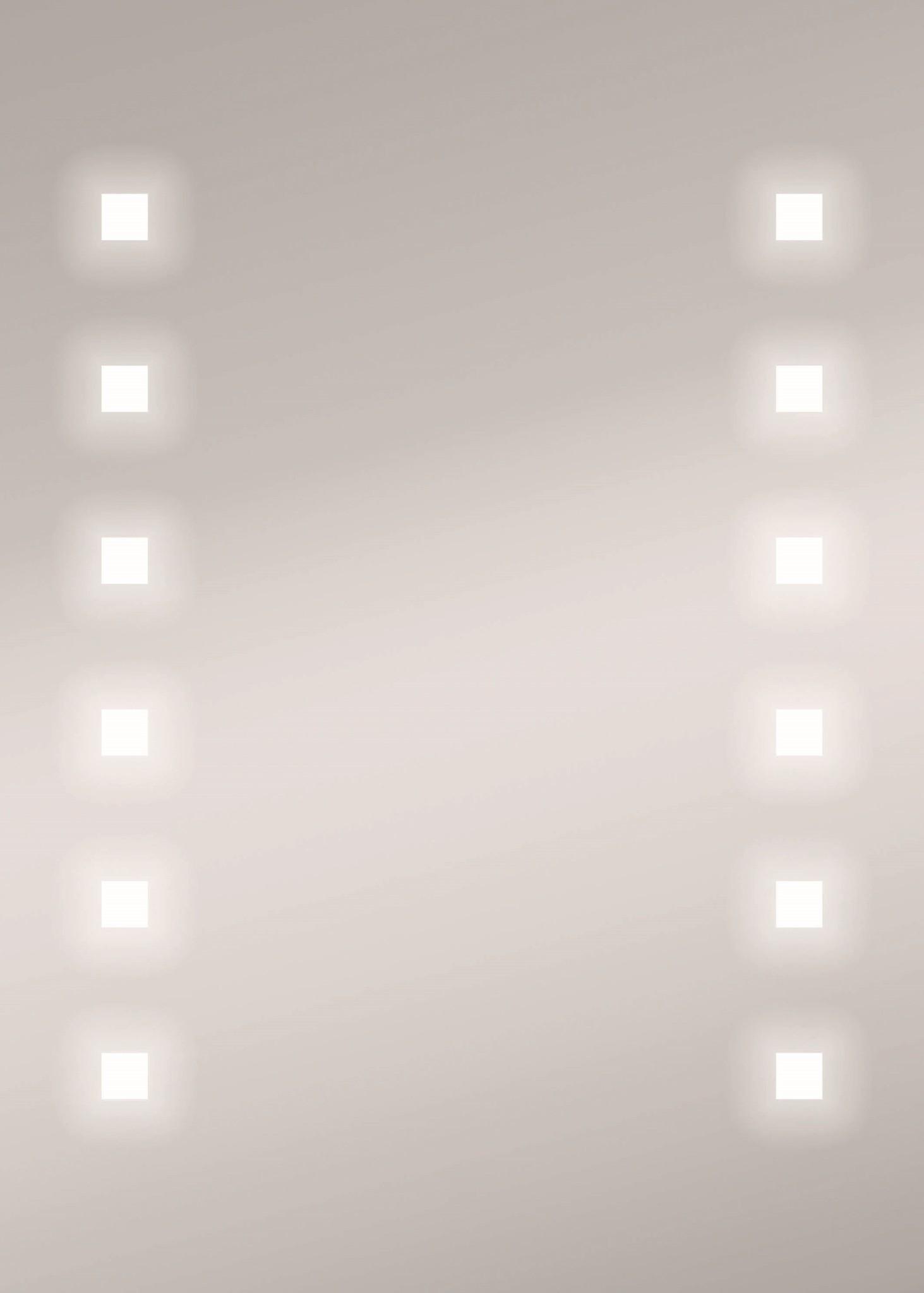 Zalena LED-Lichtspiegel Alhena mit sandgestahlten Lichtauschnitten