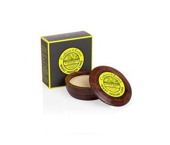 Crabtree & Evelyn West Indian Lime scheerzeep in mooie houten scheerkom