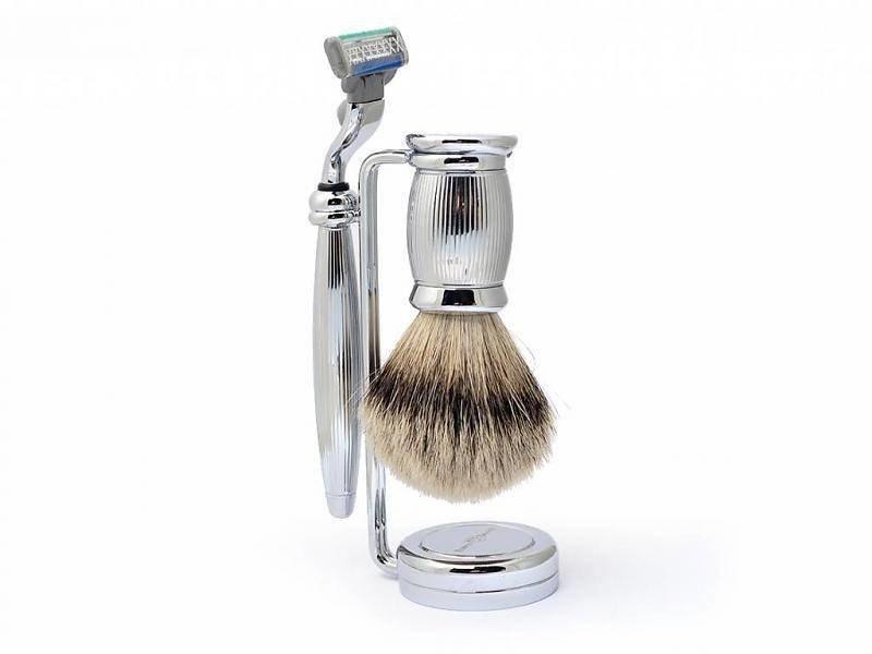 Edwin Jagger Bulbous Silver Tip 3-delige Mach3 set