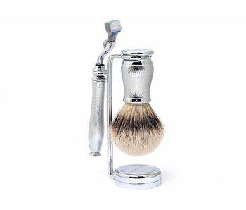 Edwin Jagger Chatsworth Barley Silver Tip 3-delige Gillette Mach3 set