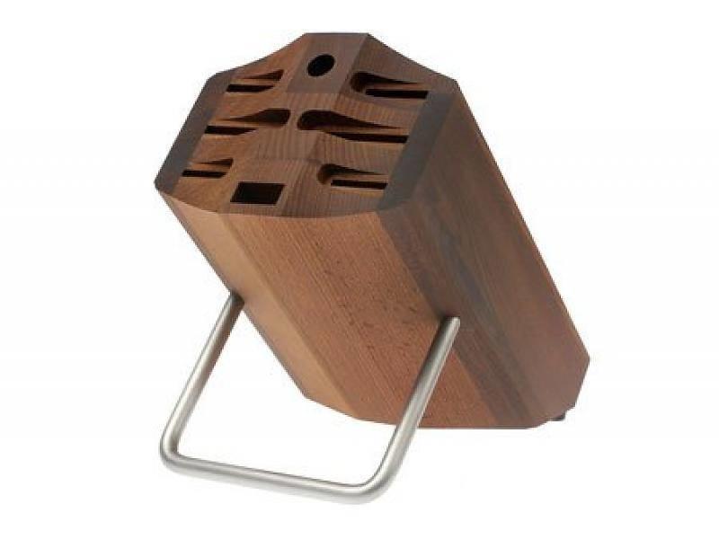 Wusthof Bruin messenblok met beugel voor 8 messen