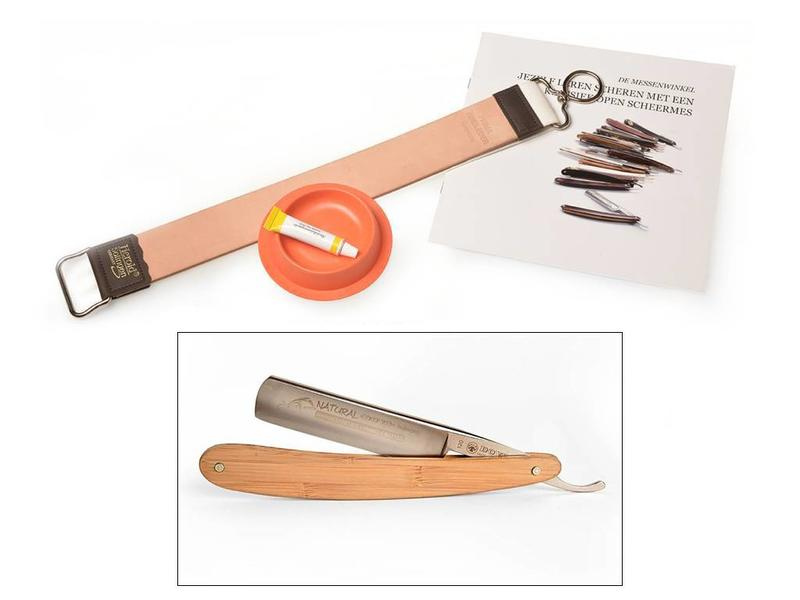 Beginnerspakket open scheermes - bamboe 5/8