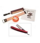 Compleet beginnerspakket open scheermes - pakkawood red 5/8