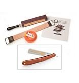 Compleet beginnerspakket open scheermes - redwood 5/8