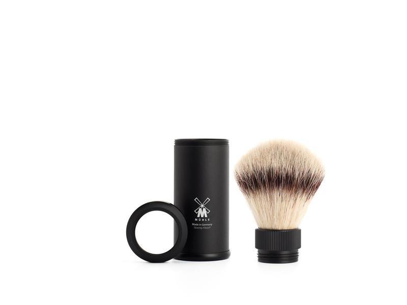 Muhle silvertip fibre reisscheerkwast - zwart