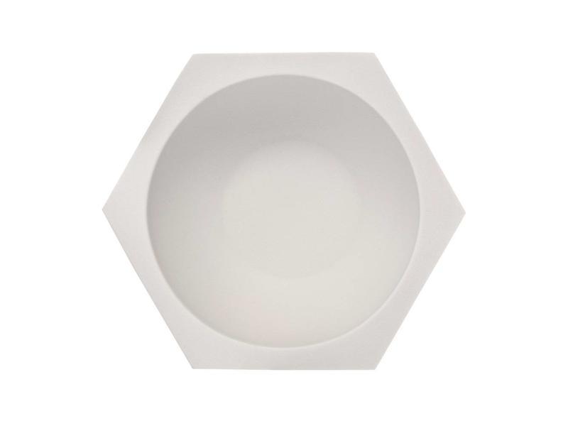 Muhle Hexagon porseleinen witte scheerkom