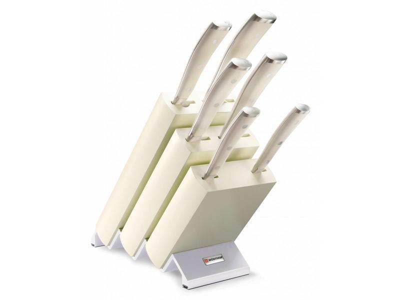 Wusthof Classic Ikon messenblok gevuld 6 delig wit