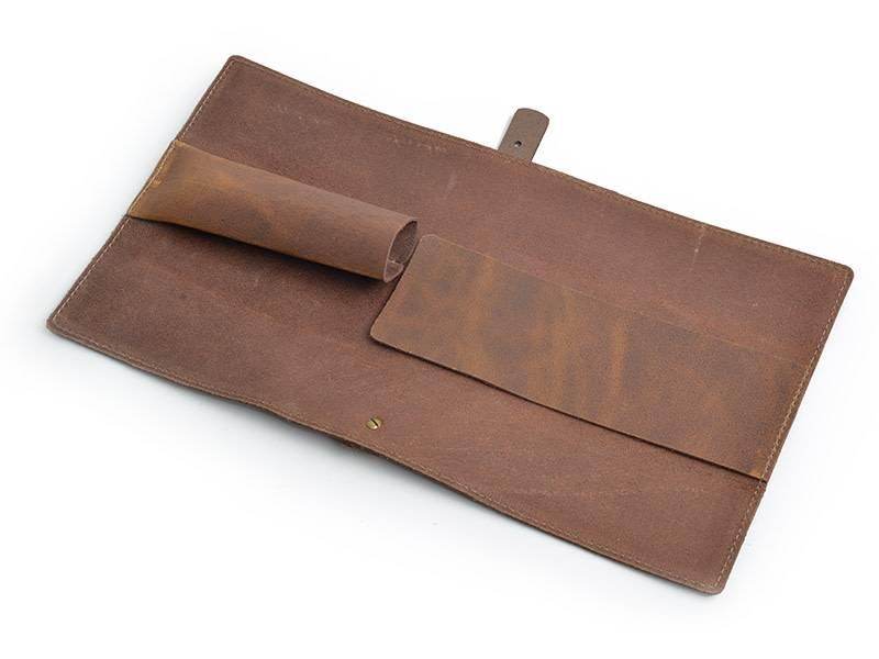 Crafted lederen messenhoes voor één mes van 18cm