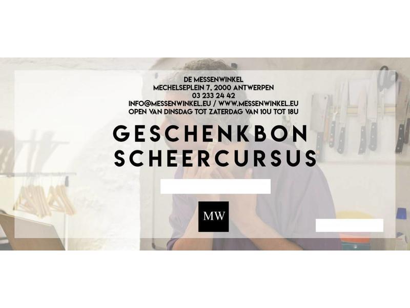 De Messenwinkel Geschenkbon 'scheercursus met eigen materiaal'