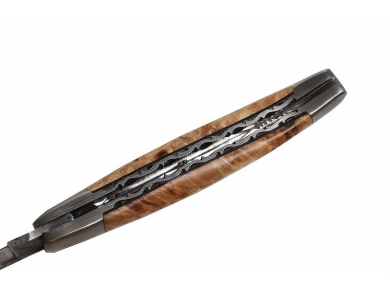 Laguiole en Aubrac 12 cm Loupe de Peuplier mat (Brut de Forges)