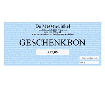 De Messenwinkel geschenkbon €25,00